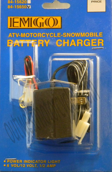 BATTERY CHARGER  6 12 VOLT CHARGER W// POWER LIGHT 1//2 AMP 84-15650